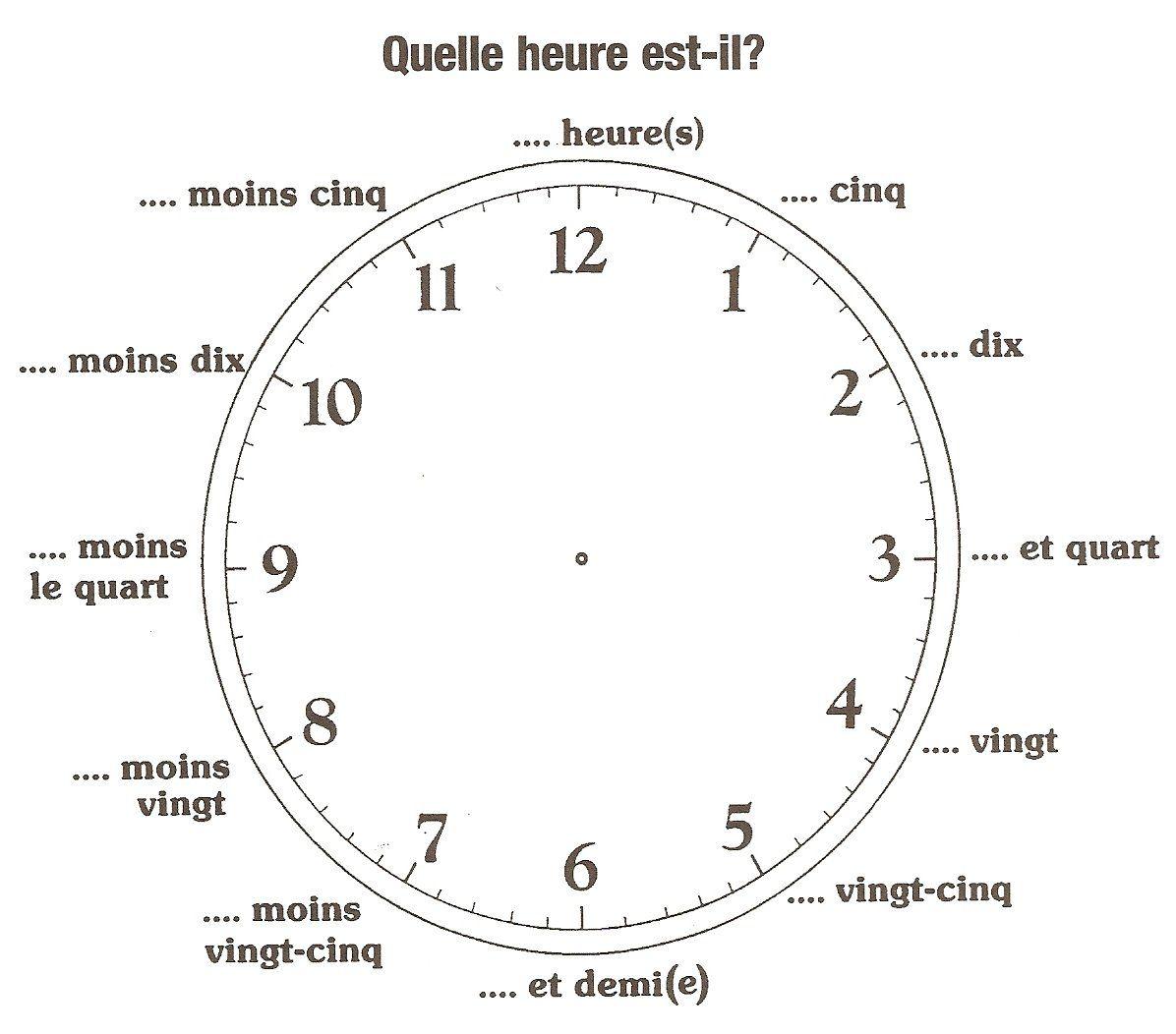 quelle heure est il apprentissage pinterest quelle heure quelle heure est il et heures. Black Bedroom Furniture Sets. Home Design Ideas