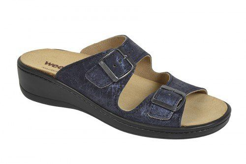 Orthopädische-Pantolette mit auswechselbarem Fußbett beige metallic Gr. 42 S1HPUUpuD2