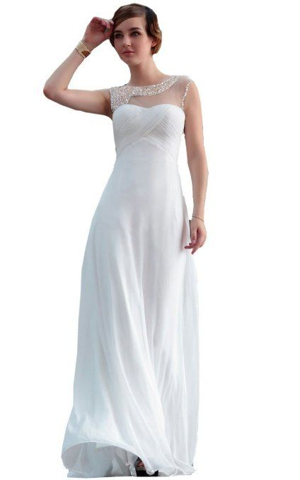 94a5d3672b7 Amazon.com  WitBuy Sexy White Lace Floor-Length Semi Formal Dress  Clothing