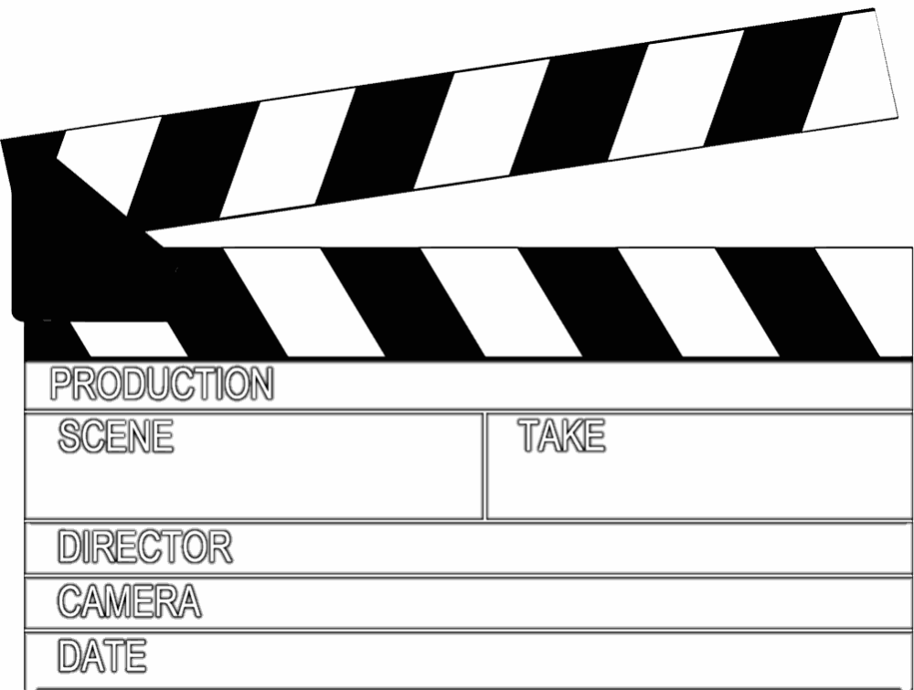 Open Movie Clapperboard Vector Illustration Infographic Design Template Vector Illustration