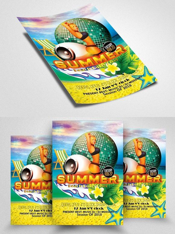 Summer Fun Flyers Templates Flyer Template Template And Business