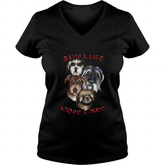 Dog style Adopt A Mutt  Mens Ringer TShirtGILHFRV  V-Necks T-Shirts, Hoodies ==►► Click Shopping NOW!