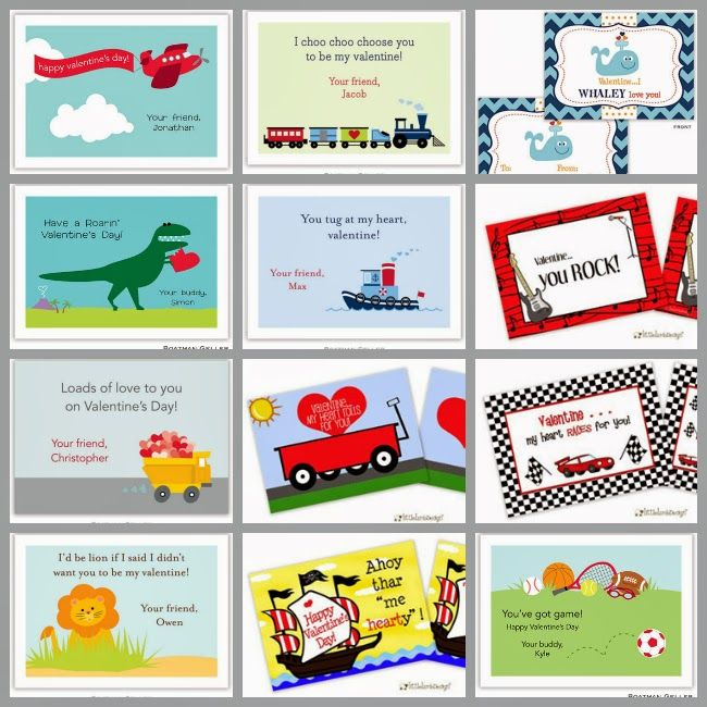 Classroom Valentine S Day Exchange Cards For Boys Trucks Dinos