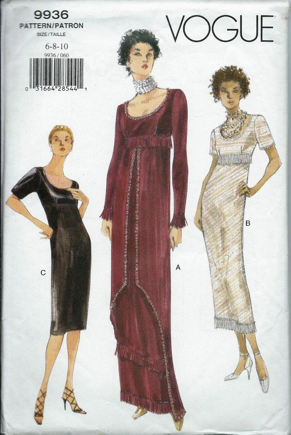 Vogue 9936 Misses Dress Pattern Titanic Era by DawnsDesignBoutique ...