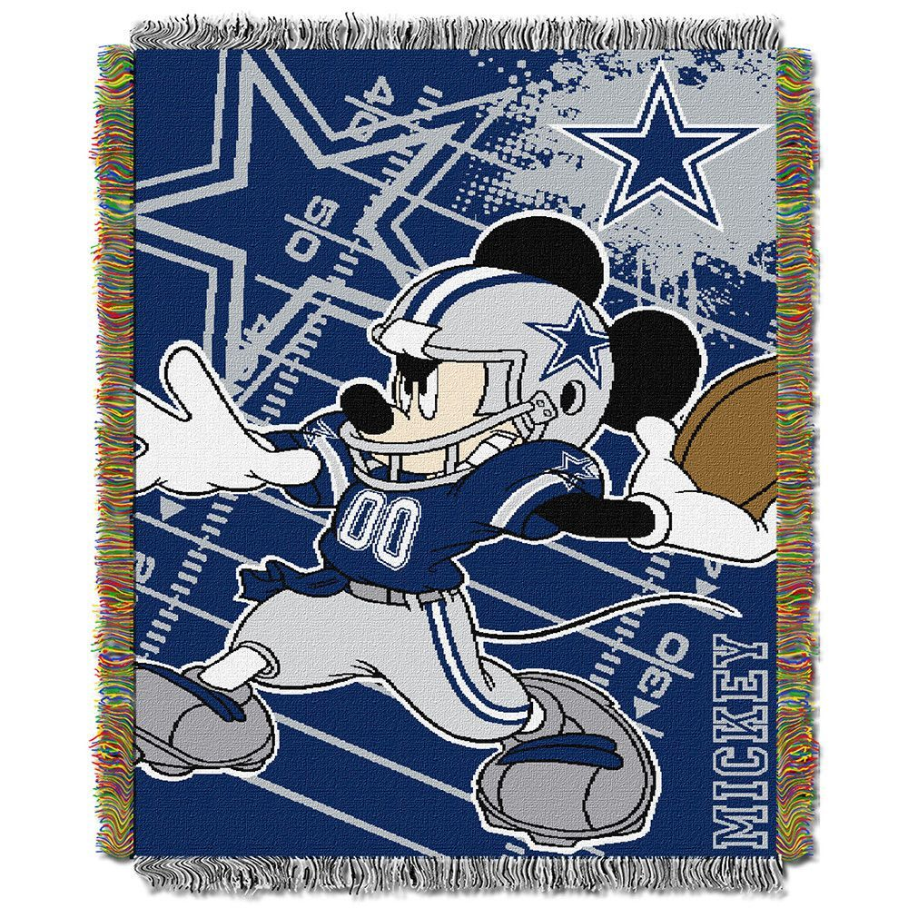 Dallas Cowboys NFL Mickey Tapestry Throw (48inx 60in)