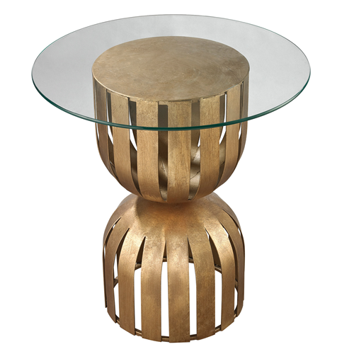 Olympia Side Table. Itu0027s Gold, Round, And Banded With A Glass Top
