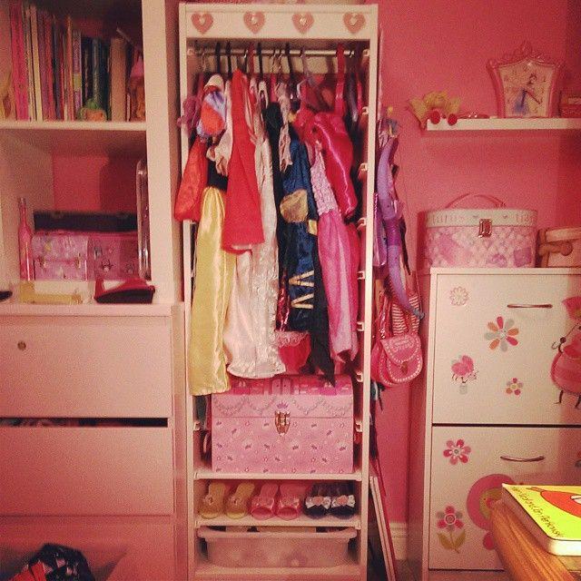 #ikeahack Dress-up closet using a tall Trofast