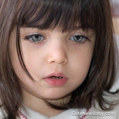 Baby Girl Face With Gray Eyes Youth And Innocence Criancas