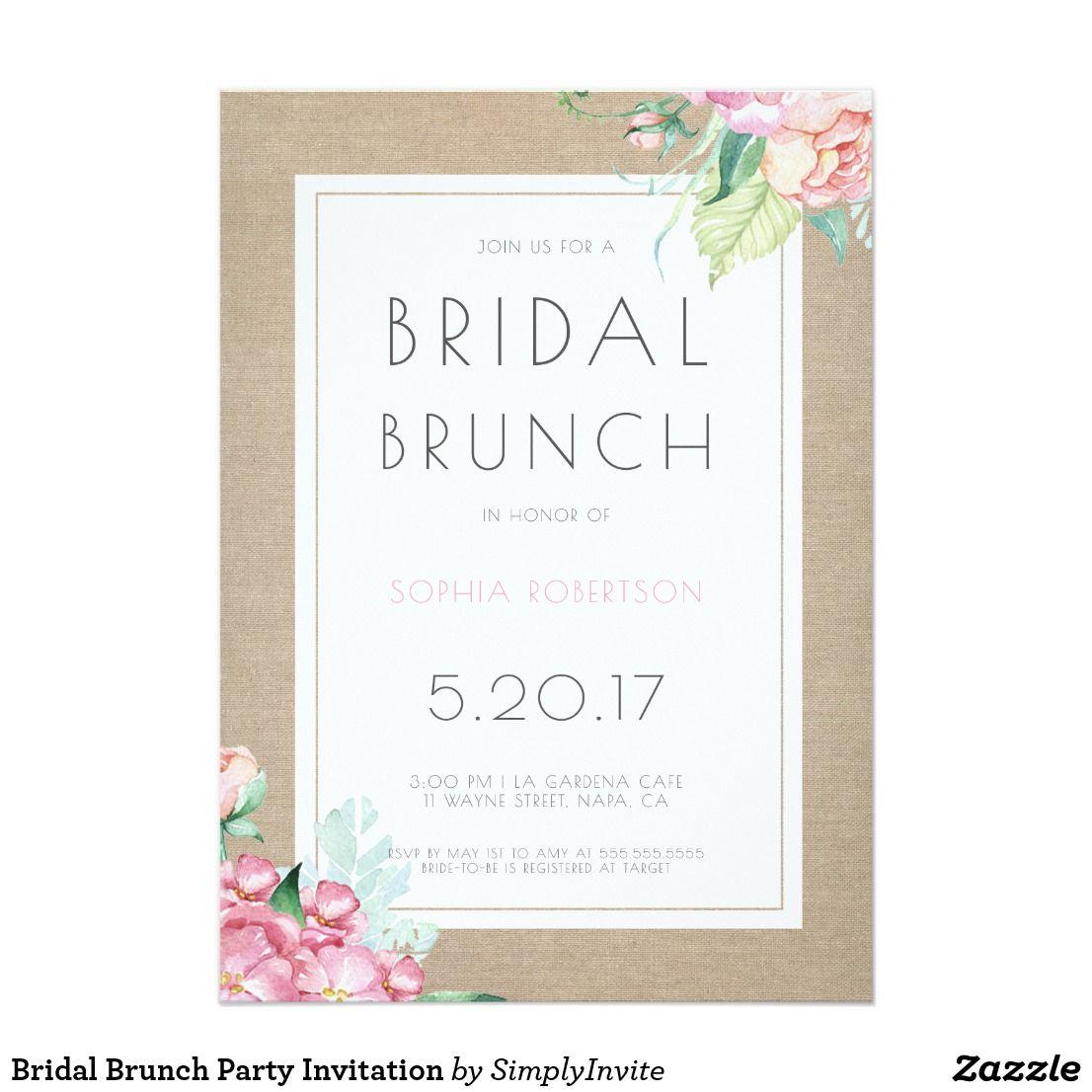 Bridal Brunch Party Invitation | Brunch party