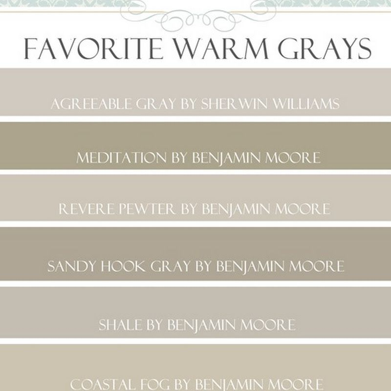 Favorite paint colors paint colors that go with wood for Best neutral gray paint