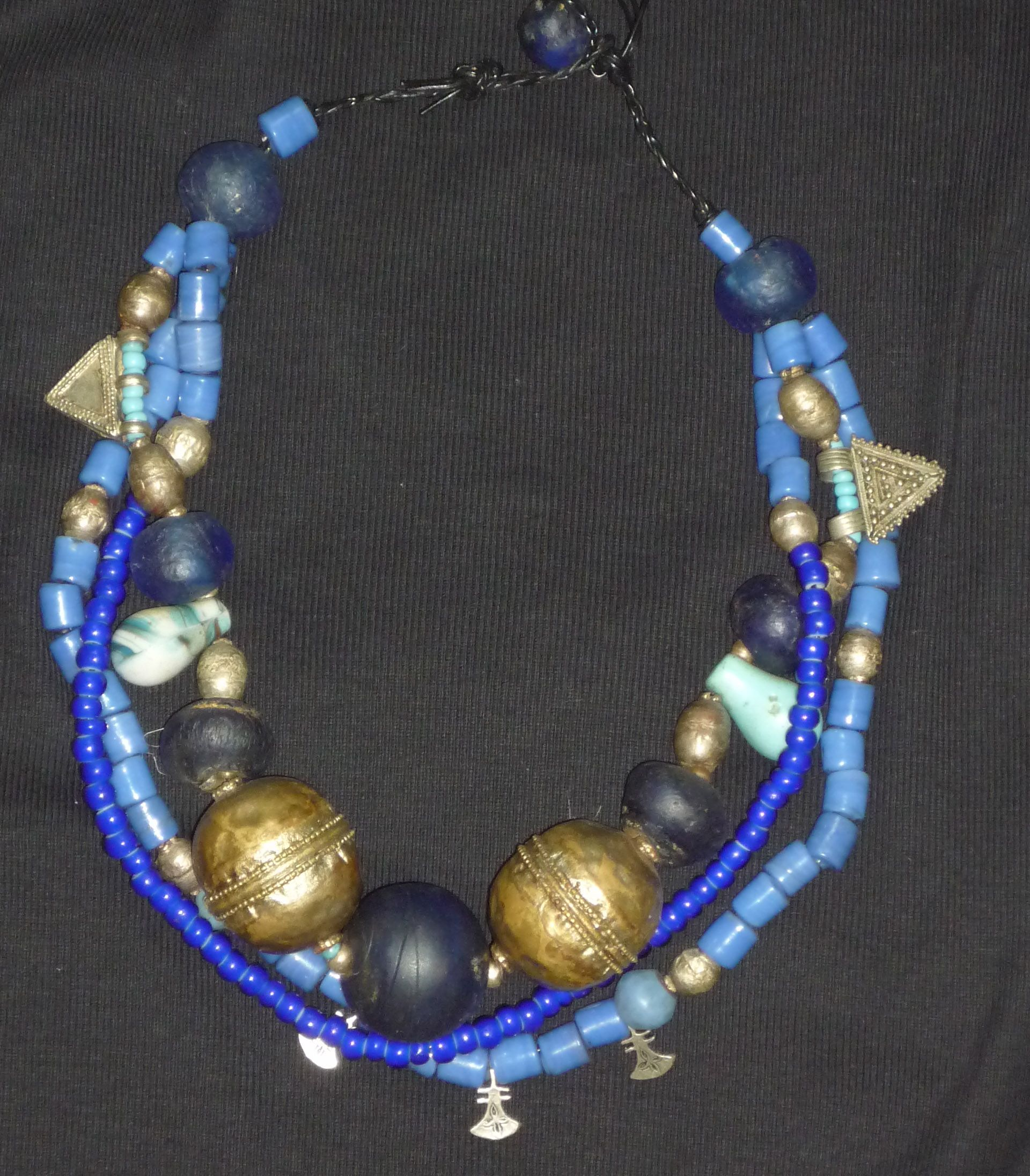 african jewelry | african jewelry ethiopian silver metal beads old african glass beads ...