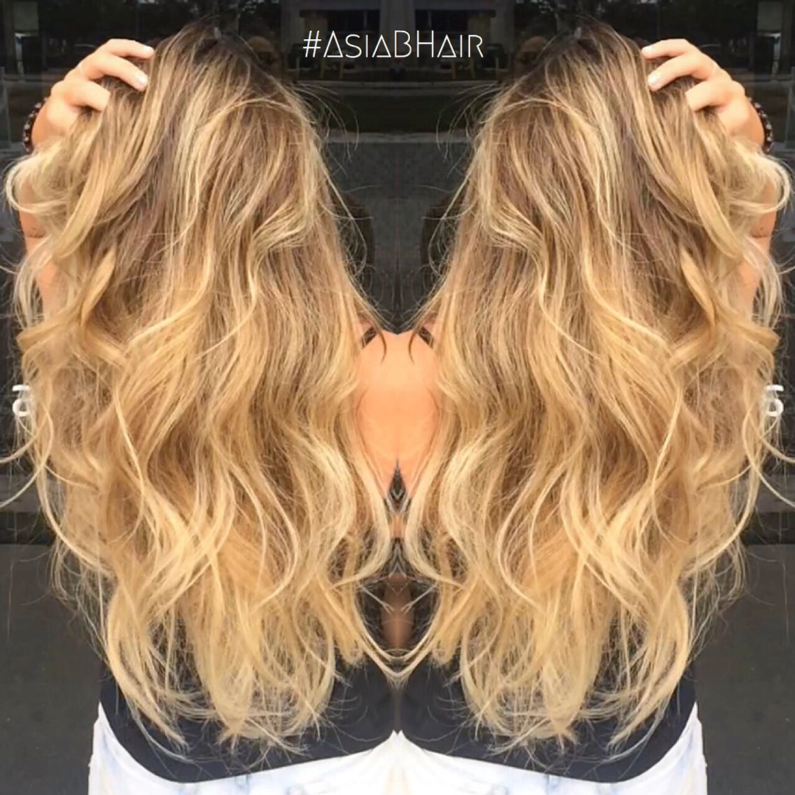 Sun Kissed Balayage Balayage Highlights Long Hair Blonde Ombre