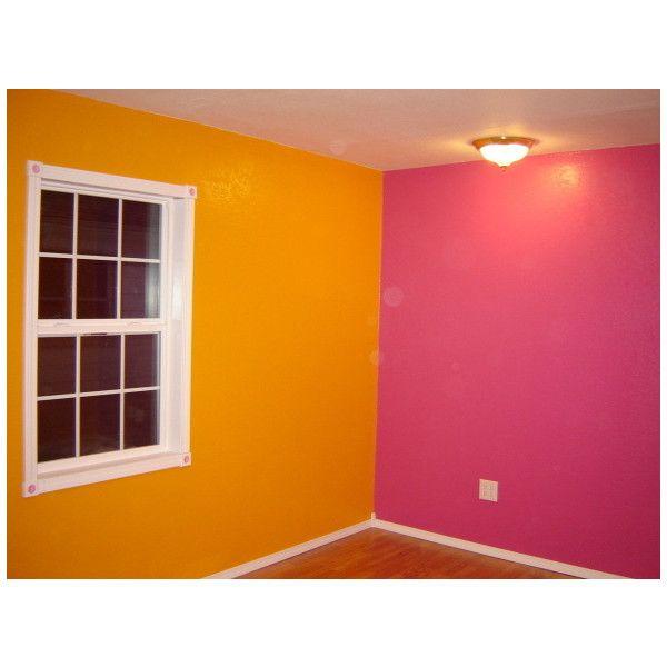 Bright pink and orange bedroom girls 39 room designs for Bright orange bedroom ideas