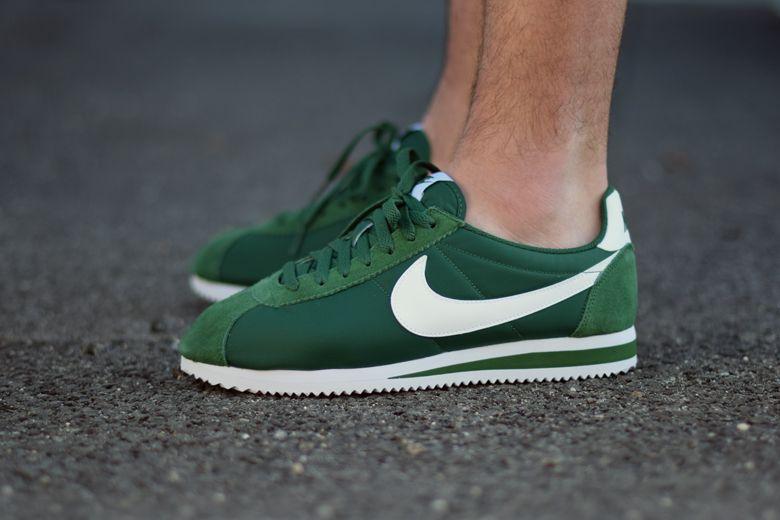 Hommes Nike Cortez Noir/Blanc/Vert