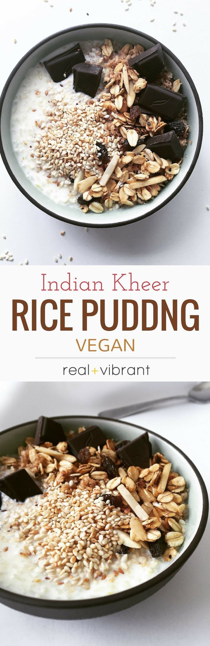 Indian Rice Pudding (Kheer) | Recipe | Vegan dessert ...