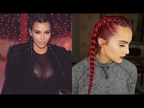Download Video Kim Kardashian Inspired Dutch Braids Hairstyles