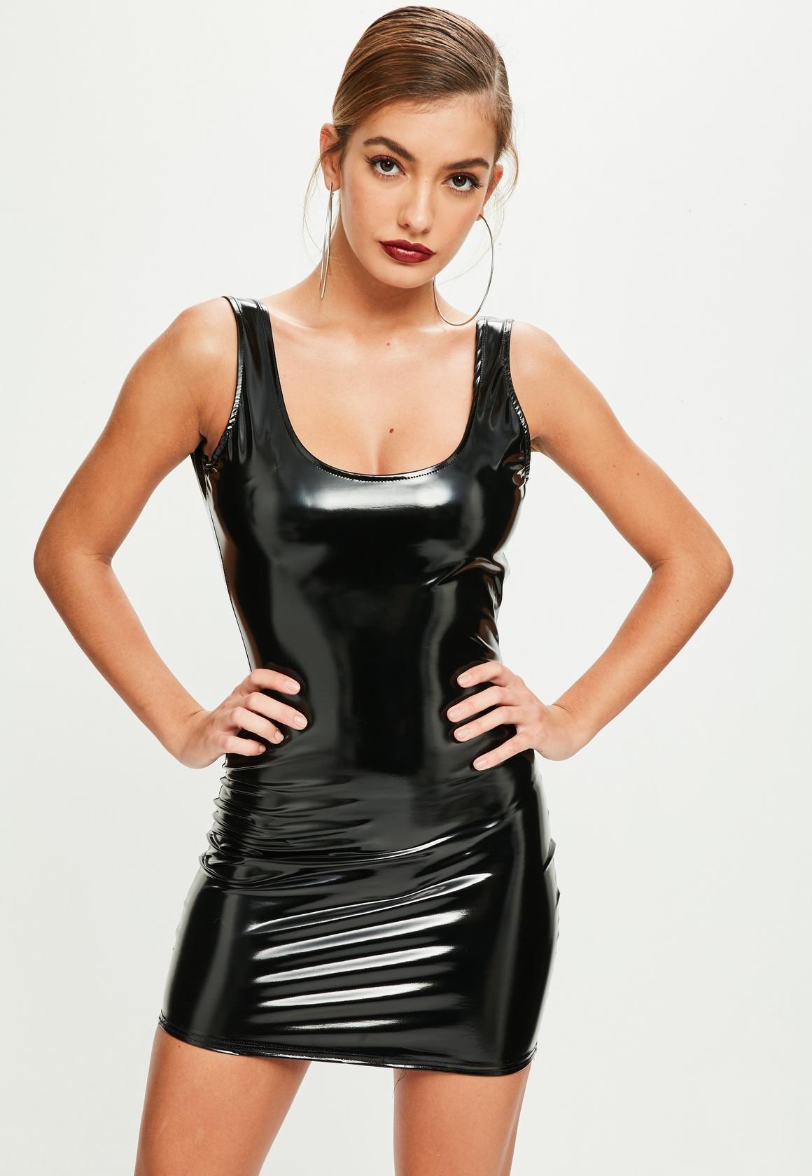 b5afa4df05a Missguided - Black Vinyl Bodycon Dress
