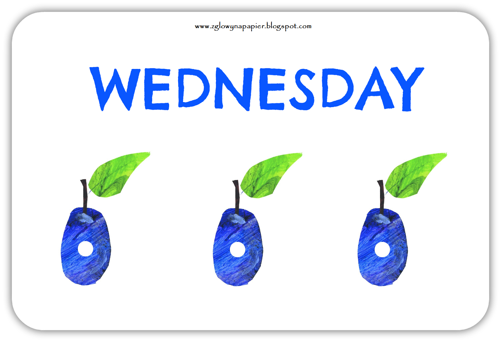 The Very Hungry Caterpillar days of the week free flashcards   ESL ...