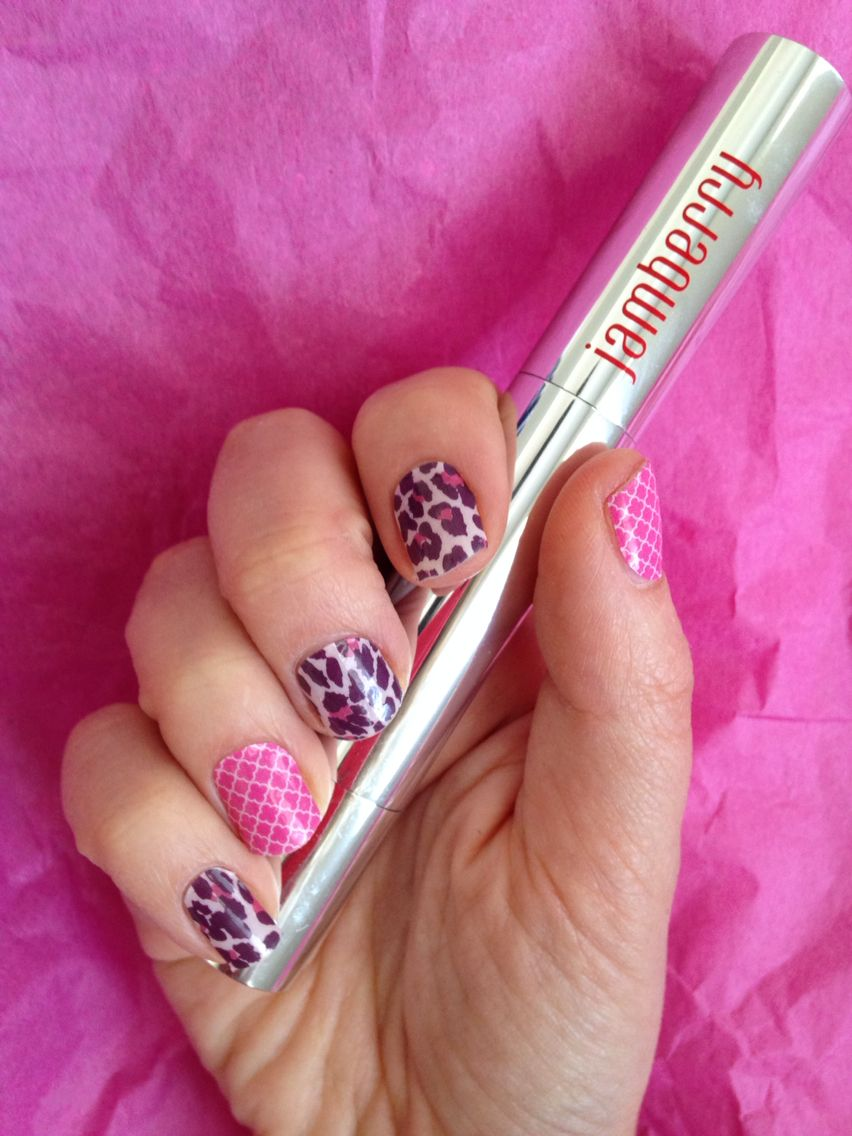 Jamberry Nails - Nail Art . Flirty Leopard and Rosy Quatrefoil ...