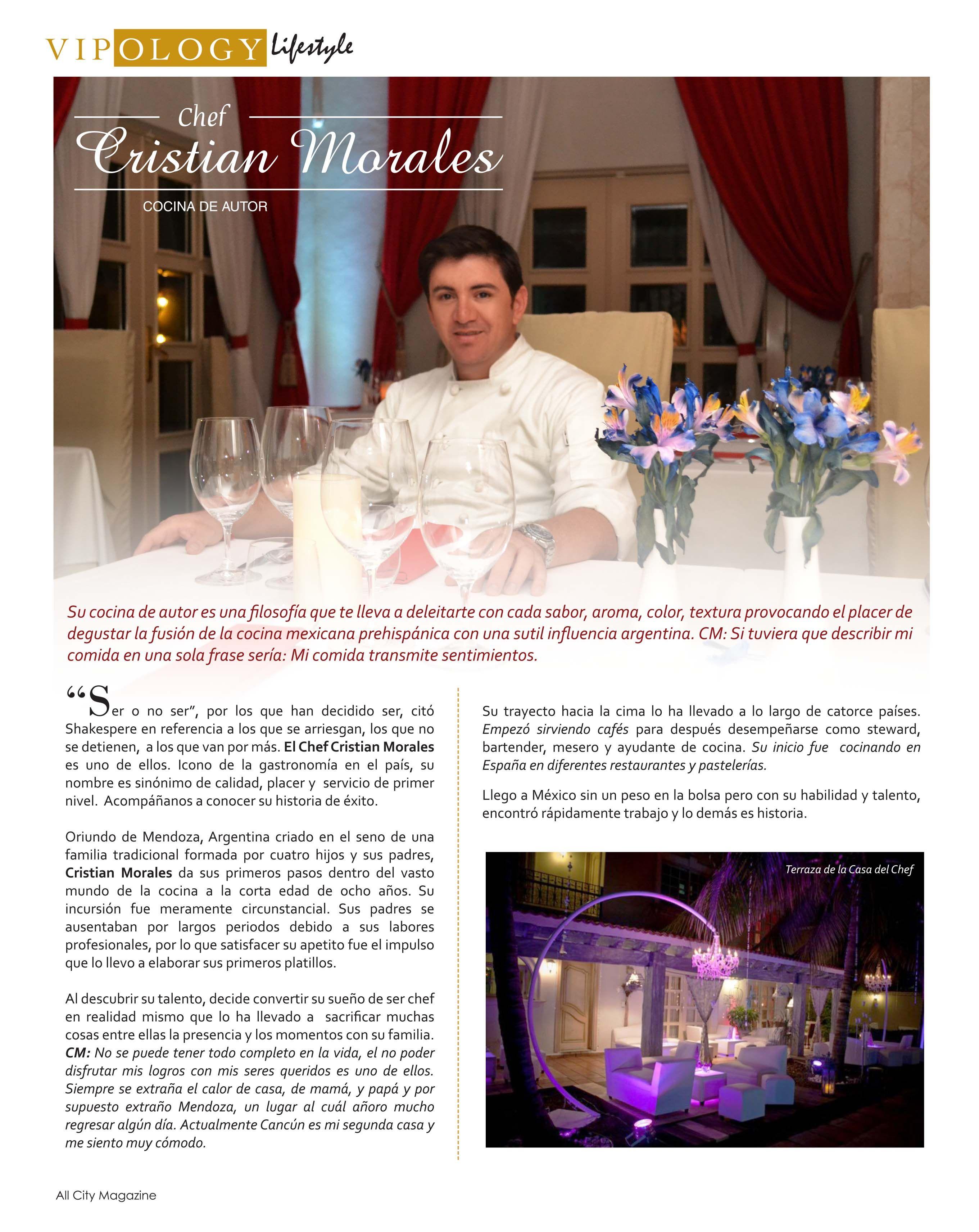 Embajador Vipology Chef Cristian Morales