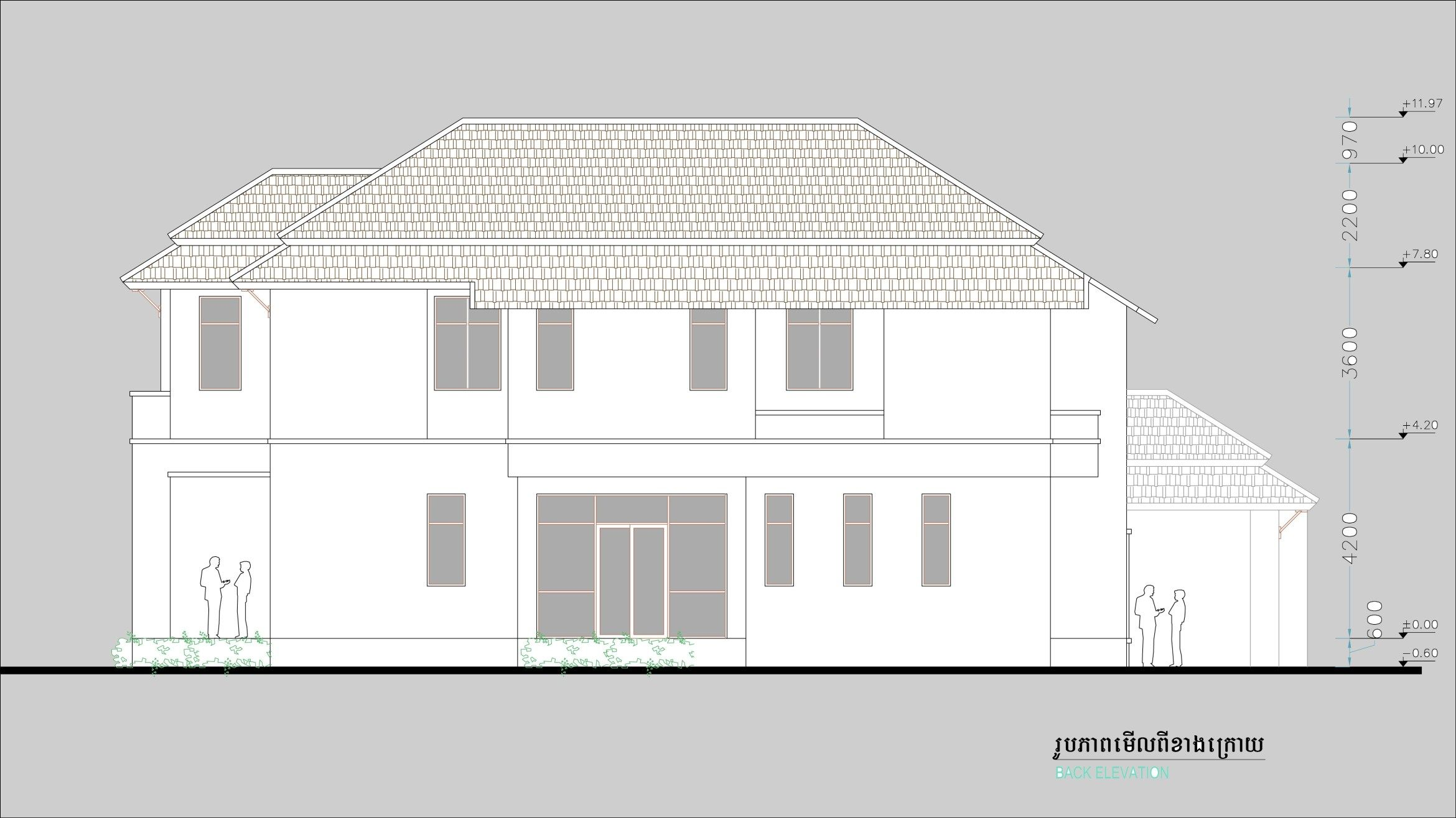 4 Bedroom House Size 15,7x16,2m 4 bedroom house, House