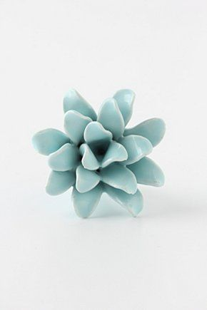 Ginger Flower Knob, Mint | Anthropologie.eu
