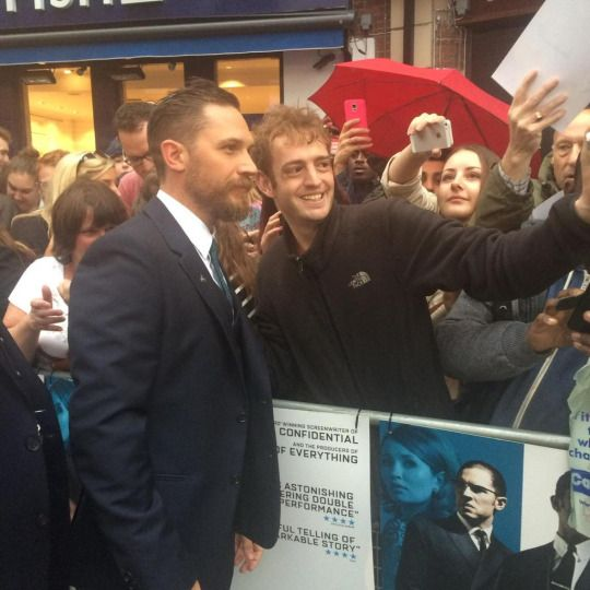 Tom Hardy at the UK Premiere of 'Legend' at Odeon Leicester Square on September 3, 2015 in London, England.
