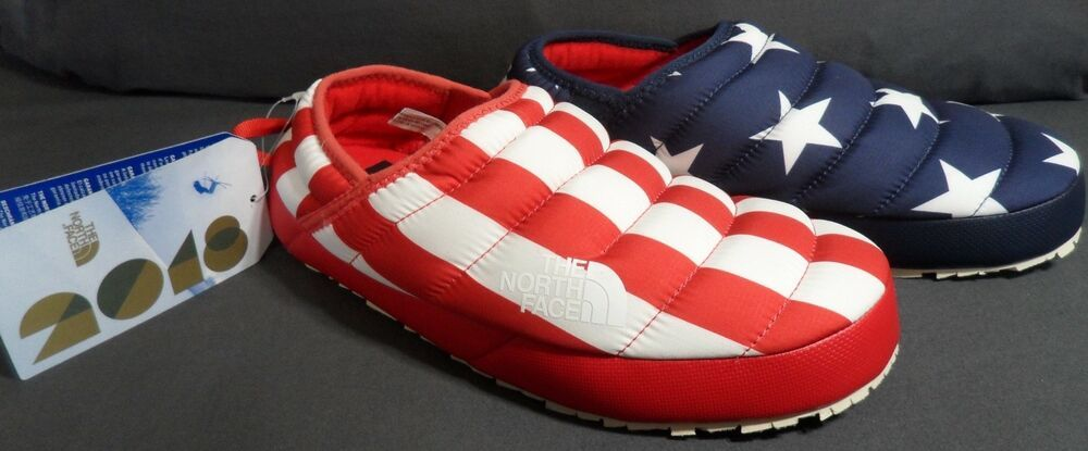 08ee82192 The North Face Womens IC NSE Traction Mule Slippers USA Flag Sz-8 ...