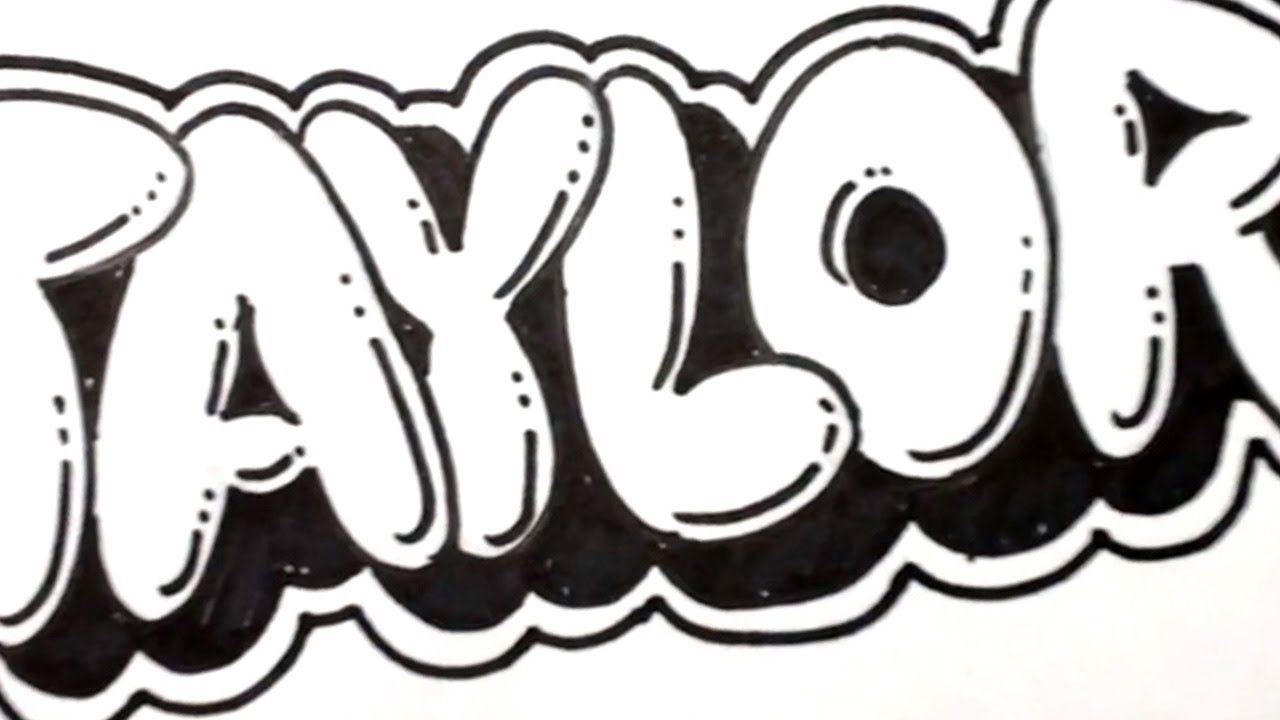 How to Draw Bubble Letters - Taylor in Graffiti Name Art ...