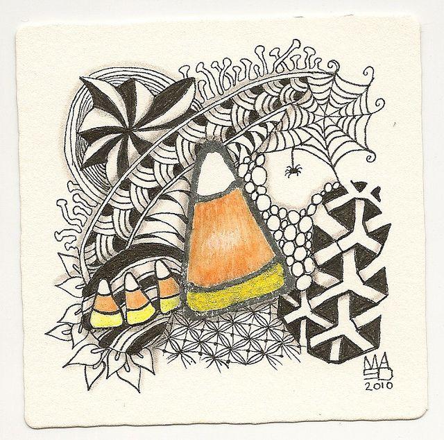 MaryAnn in 2019 Zentangle patterns, Halloween art, Zentangle