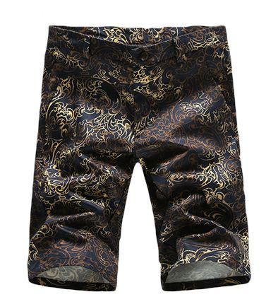 Men Summer Outdoors Wear Letter Camouflage Printed Casual Loose Short Pants,knee Length Cotton Linen Comfortable Board Shorts Board Shorts