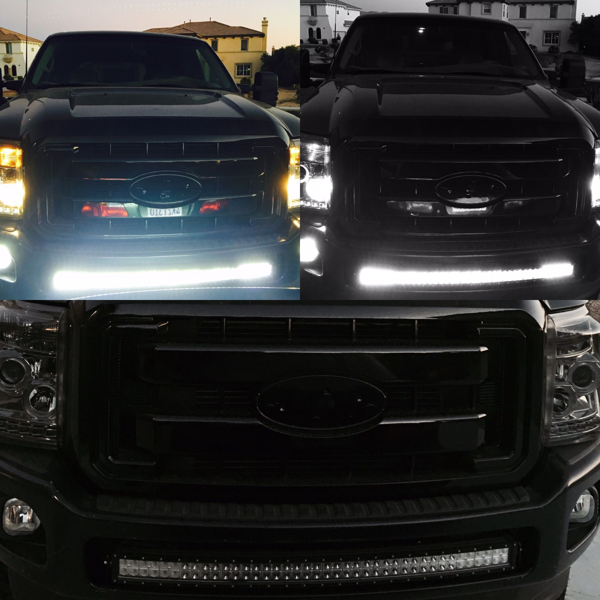 2000 ford excursion conversion to 2015 ford f 250 super duty 40 inch curved light