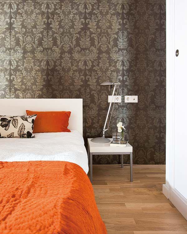 achados de decoracao amarelo papel parede bege marrom  dourado cabeceira cama paleta