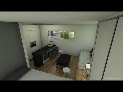 Minipiso 20 25m2 blanco y negro minipisos pinterest departamentos dise o de interiores - Diseno de interiores pisos pequenos ...