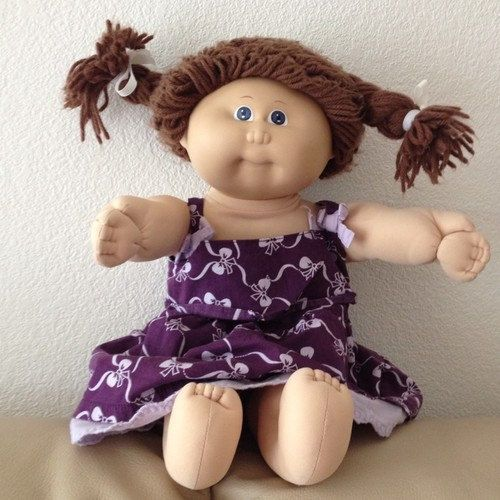 Vintage Cabbage Patch Kid Cpk Girl Blue Eyes Brown Braids Hair Etsy Cabbage Patch Kids Cabbage Patch Kids Dolls Cabbage Patch