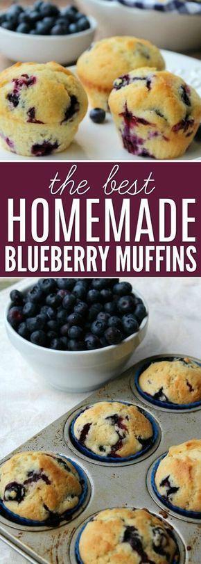 Homemade blueberry muffin #frozenbananarecipes
