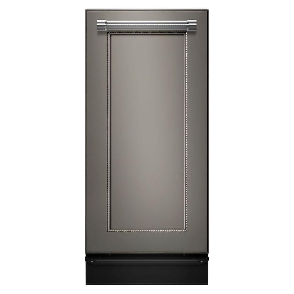 Kitchenaid 15 In Built In Trash Compactor In Panel Ready Finish Panel Ready Rubbsih Compactors And Products
