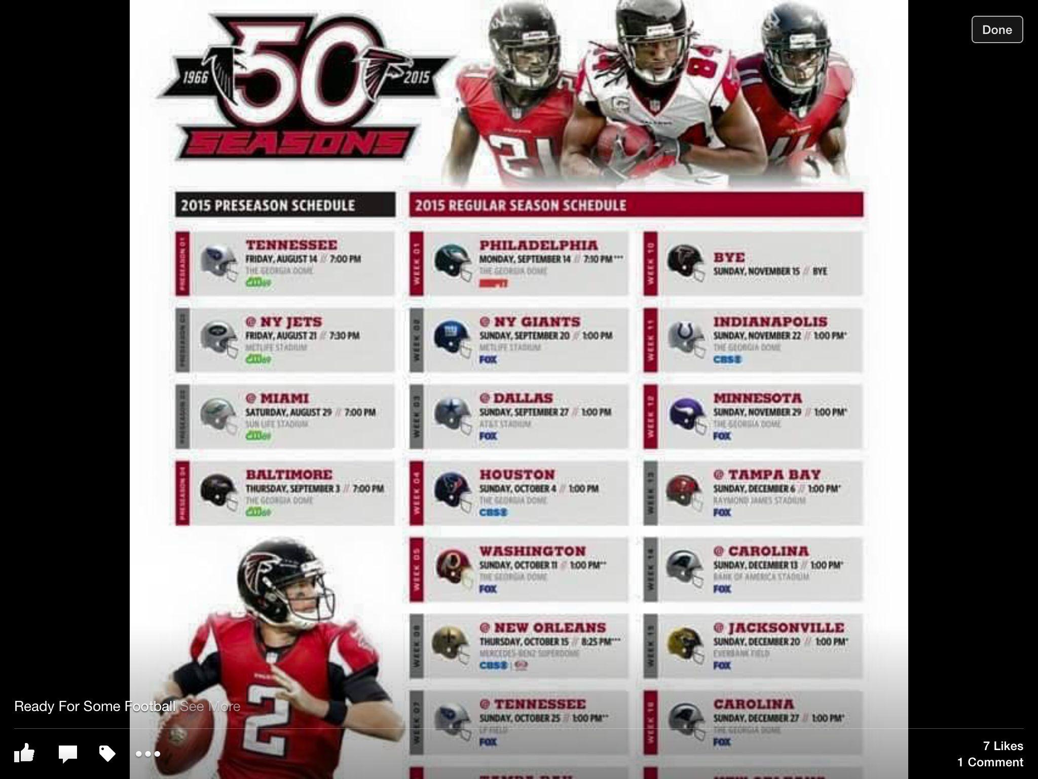 We Ready Atlanta Falcons Schedule Atlanta Falcons Atlanta Falcons Football