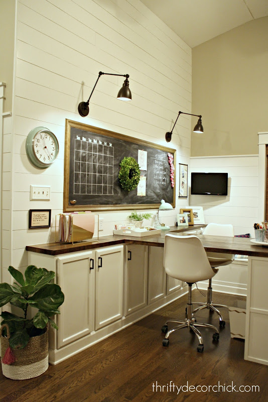 Our craft room, office, hang out space, wrapping station REVEAL! from Thrifty Decor Chick