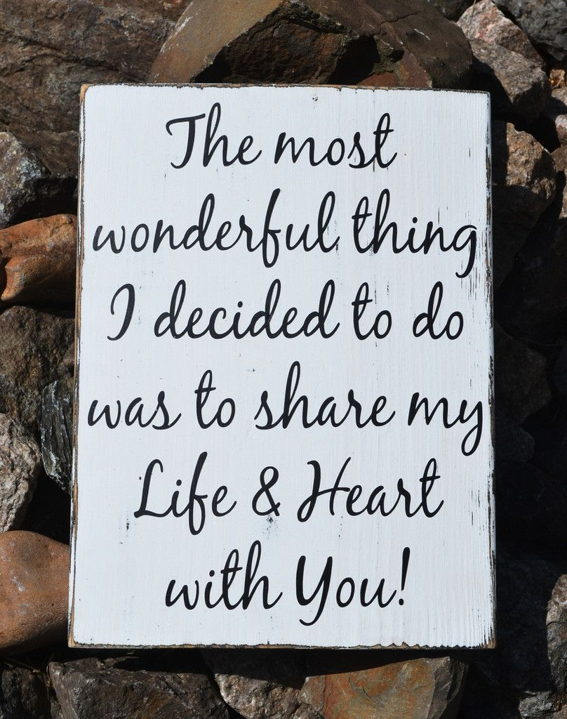 Rustic Wedding Sign 18x12 Love Quotes Anniversary Gift Reception ...