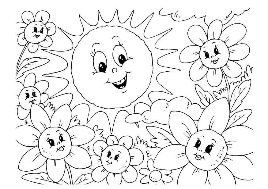 Malvorlage Sommer Ausmalbild 22600 Sun Coloring Pages Summer Coloring Pages Unicorn Coloring Pages