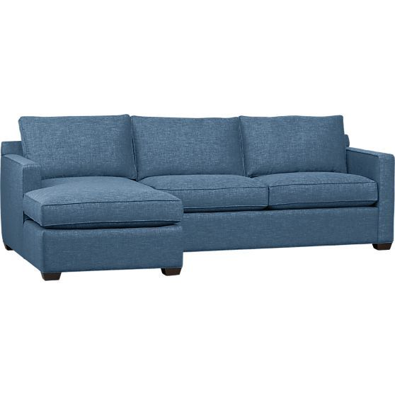 Davis 2 Piece Sectional Sofa In The Annual Crate And Barrel