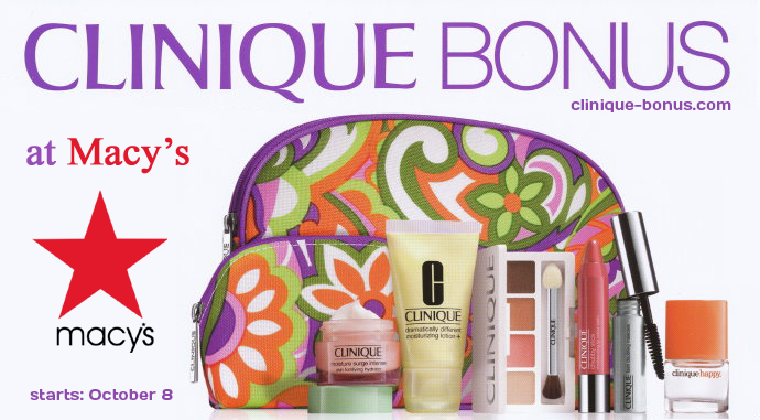 just 3 days and it s here macy s clinique bonus time october 2013
