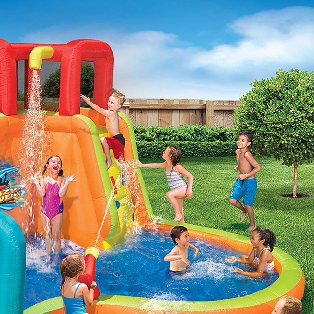 Banzai Kids Inflatable Outdoor Lazy River Adventure Water Park Slide And Pool You Can Find Out More Details At The Link Of Pool Water Park River Adventures