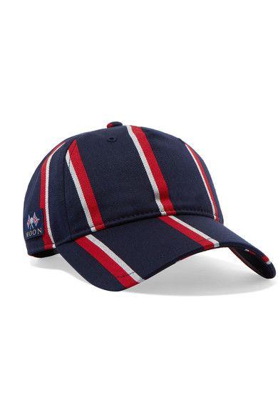 RAG   BONE Marilyn Striped Wool And Cotton-Blend Baseball Cap.  ragbone   hats cc7847d7bcbb
