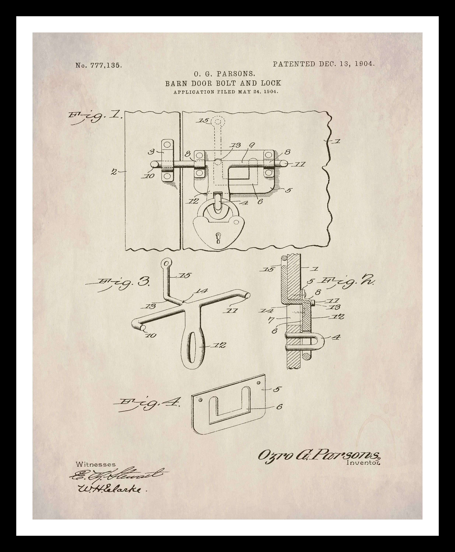 Instant download patent print barn door hardware farmhouse decor