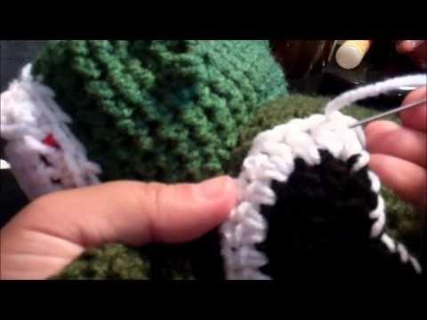 ▷ Tutorial how to crochet Dinosaur Godzilla Beanie part 2 - YouTube ...