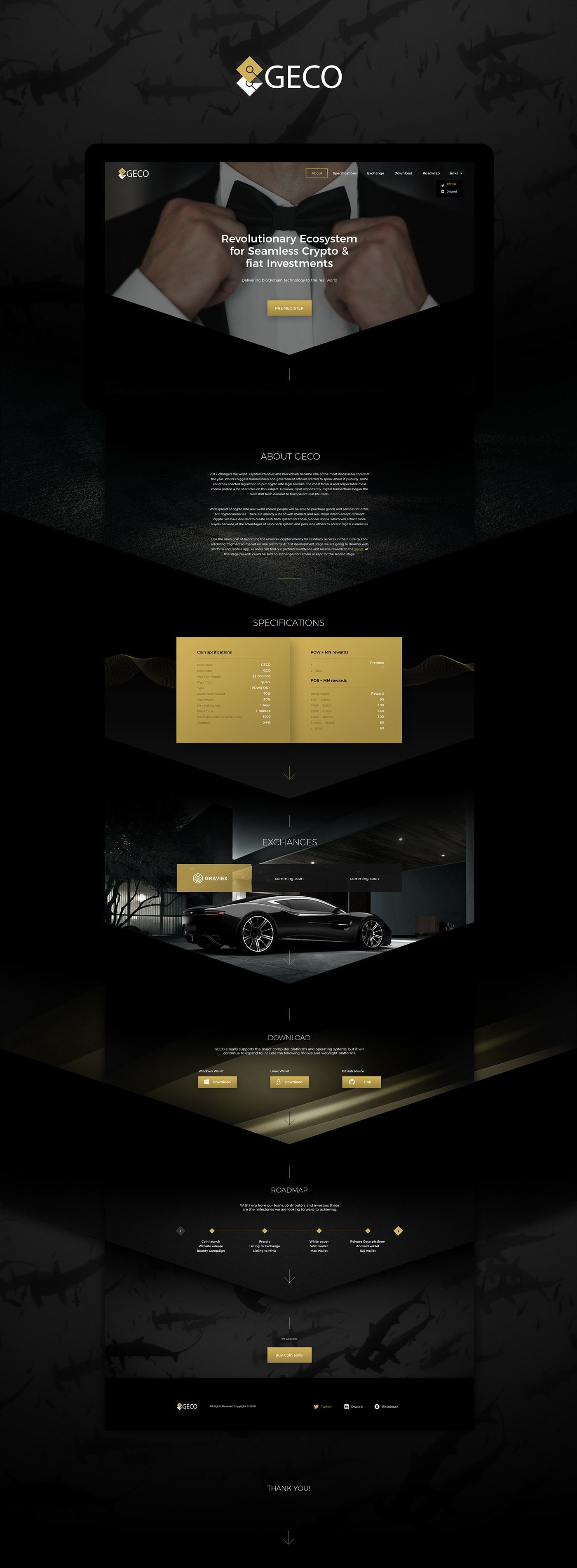 Crypto coin brand design and Landing page design