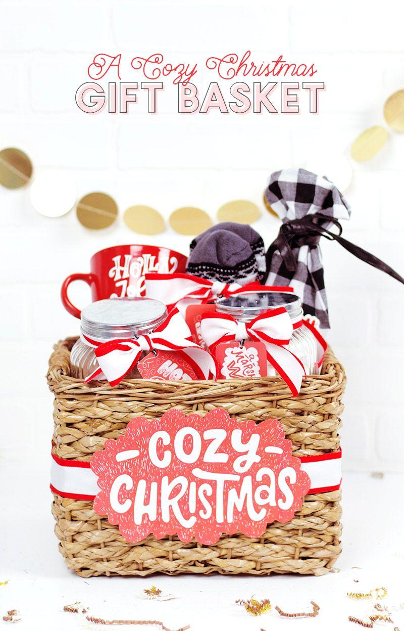 A cozy christmas a christmas gift basket idea