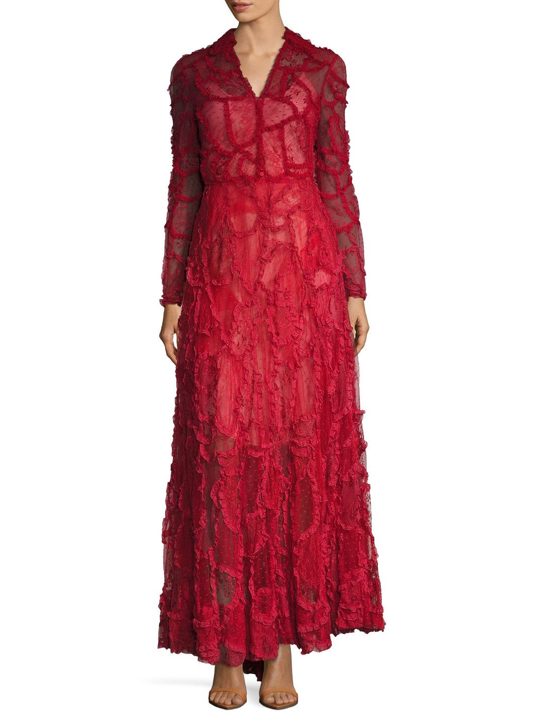Mesh Embroidered Gown by Valentino at Gilt